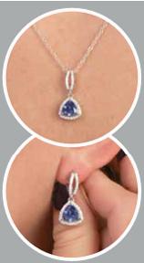 Tanzanite Pendant and Earrings Set